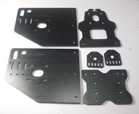 OX CNC machine parts black color OX X Axis Front Plate+OX Y Gantry Plate 6mm+OX Back X Axis motor plate+threaded rod plate