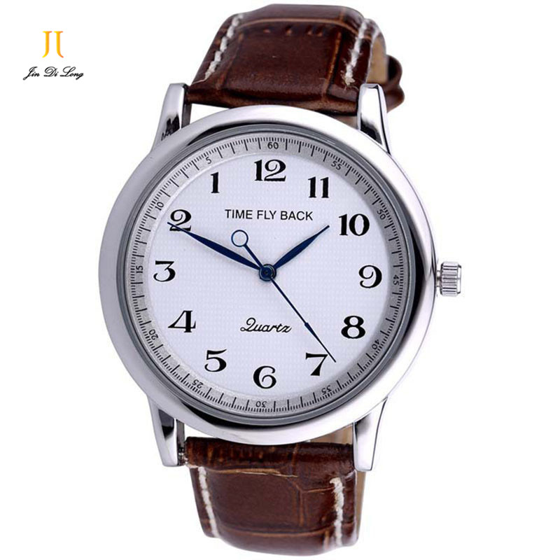 Brand Time Story Anticlockwise Classic Fashion Men Business Watches Quartz Genuine Leather Strap Wristwatch Male Waterproof