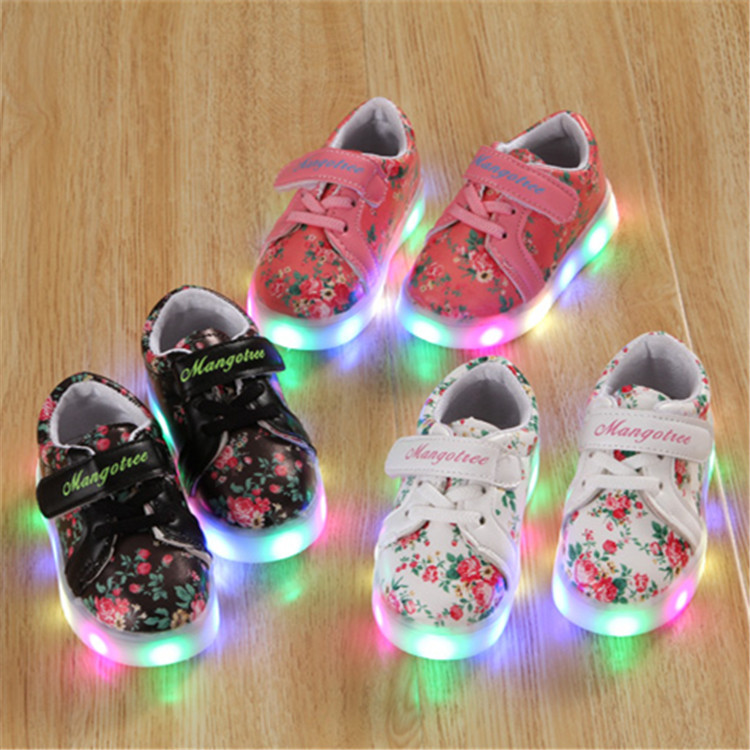 Childrens Shoes 2018 New Style Kids Baby Light Up Shoes Spring Summer LED Boys and Girls 7 Colors Casual Shoes ...