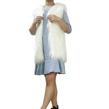 GOPLUS Outwear Faux Fur Vest 2016 Winter Fashion Women's Coat Jacket Gilet Veste Fourrure Femme Casual Warm Waistcoat Plus Size