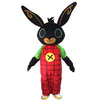 real shot rabbit BING Mascot costume Fancy Dress Christmas Cosplay with free shipping rabbit cosplay costumes
