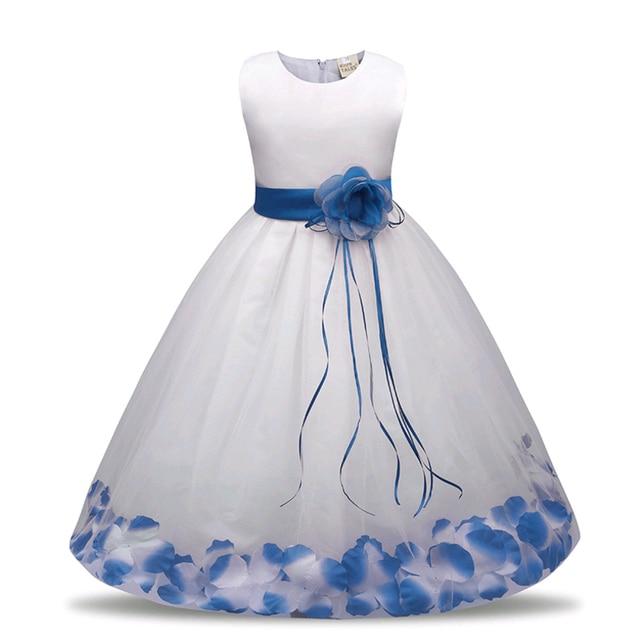 Chicas calientes vestido del banquete princesa de Navidad para la niña partido traje niños niñas de algodón ropa Exención de gastos de envío
