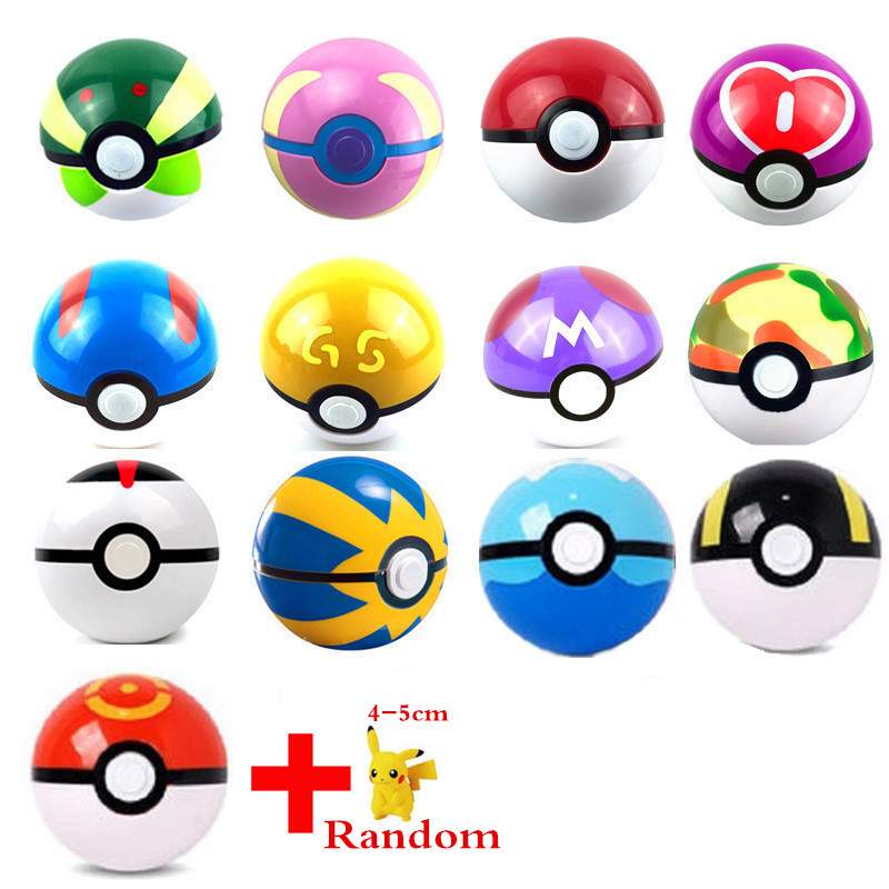 7cm Pokeball Each Pokeball + 1pcs Free Random Action Figure Japan Anime Toys Super Master Ball Toy Halloween Christmas Gift XD31 pokemon go new pokeball toy 2016 5styles new puzzle 3d miniature building blocks assembled anime abs super master pokemon ball