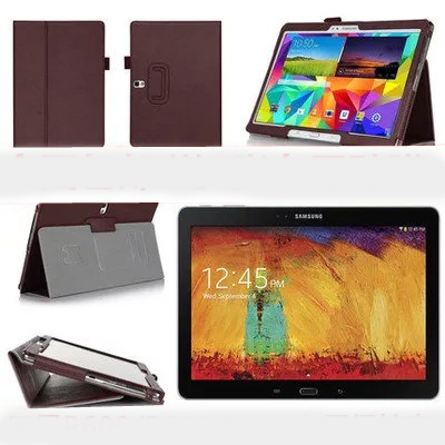 Flip PU Leather Stand Case Cover For Samsung Galaxy Note(2014 Edition) 10.1 P600 P601 Tab Pro T520 Tablet Protective Cover Case