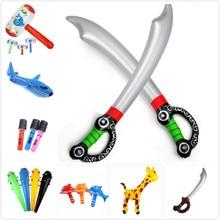 1 шт. воздушный шар в виде оленя/жирафа, надувные мечи из ПВХ для сада и двора, детские игрушки