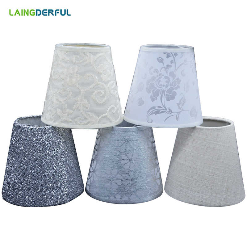 Modern Art Deco Fabric PVC Lampshade Nordic Style Cloth Lamp Shade for Crystal Pendant Wall Lamp Creative Light Shade