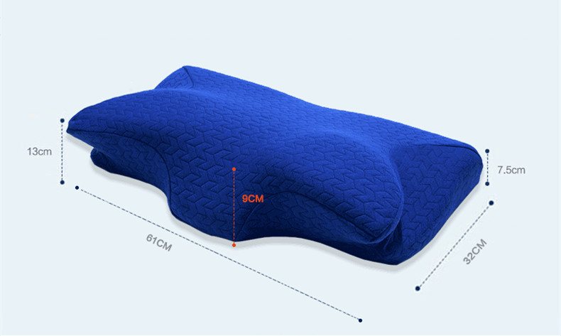 Image 2 - 60*32CM Orthopedic Latex Physiotherapy Pillow Slow Rebound Memory Foam Sleep Neck Pillow Cervical Health Pain Release Pillow-in Decorative Pillows from Home & Garden