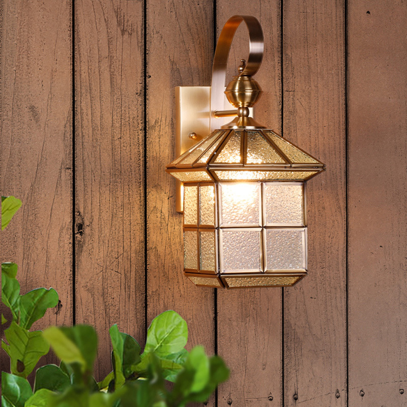 Retro Country Loft Style minimalist LED Copper lamp bedside lamp wall lamp room bathroom mirror light direct creative aisle copper retro loft vintage wall lamp