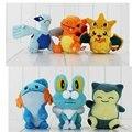 3 unids/lote lugia Pikachu charizard Froakie mudkip Snorlax peluche juguetes de peluche muñecas