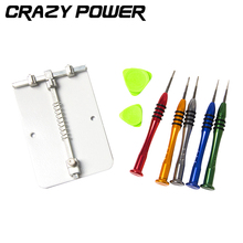 CRAZY POWER Precision Repair Opening 7 Pcs Hand Tools Kit Screwdrivers For PC iPhone 7 7S 6 6S With Universal PCB Board Holder