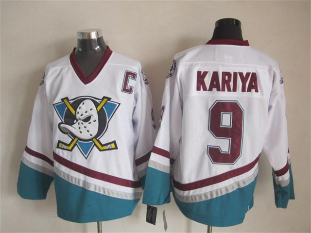 Anaheim Ducks Jerseys 9 Paul Kariya Jersey Ice Hockey CCM Vintage Retro  Kariya Throwback Jersey Mighty Ducks Movie 467445 06f0fdfb9b4