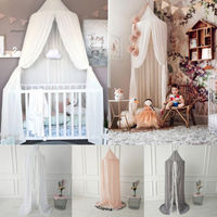 Baby Kids Bed Canopy Design Mosquito Net Solid Color Curtain Fly Midge Insect Cot Mosquito Net Bed Cover Summer Net