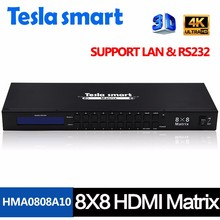Computer Office - KVM Switches - Tesla Smart New High Quality 8 In 8 Out HDMI Matrix 8x8 With RS232/LAN Support Ultra HD 4K Full HD 1080P 3D