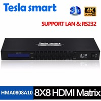 Tesla Smart New High Quality 8 In 8 Out HDMI Matrix 8x8 With RS232 LAN Support