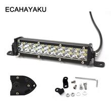 ECAHAYAKU 2pcs 60W Led work Light Bar 7 inch Off road Led Bar spotlight for Tractor Truck jeep Boat 4WD 4x4 ATV driving lamp 12V цена 2017