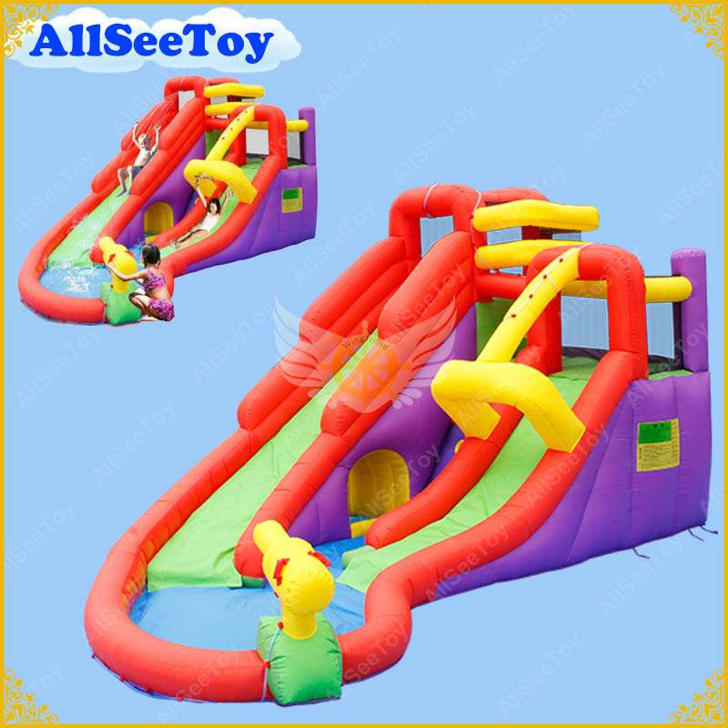 Inflatable Bouncy Calstle Combo Water Slide,Bounce House for Kids,Jumping Castle with Air Blower