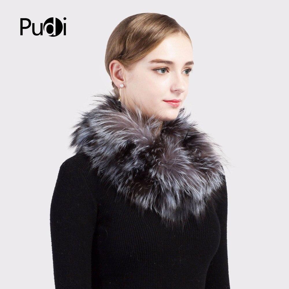 Pudi SF717 2018 Winter Mädchen echte Fuchspelz Schal Marke neue - Bekleidungszubehör - Foto 3