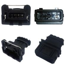 5sets/lot 4 Pin/Way AMP/TYCO Junior Power Timer JPT Male And Female Connector Plug For BOSCH EV1