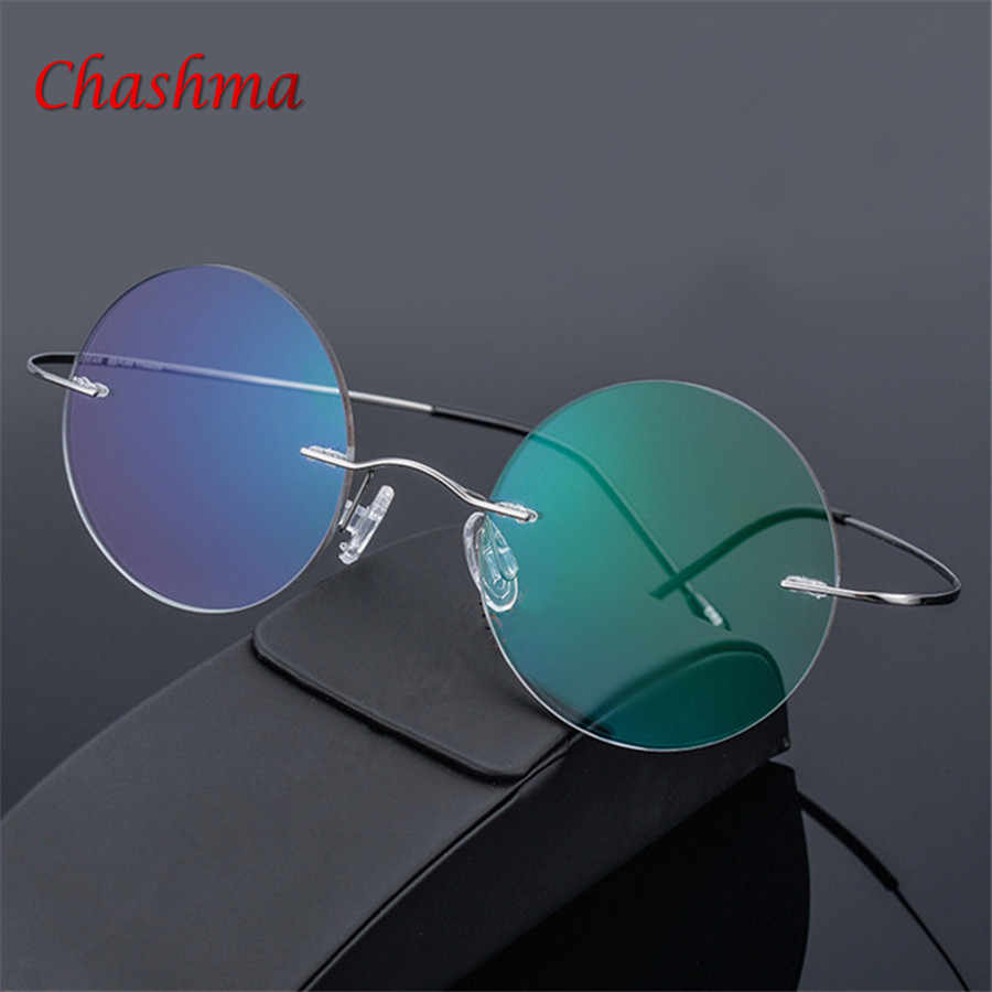 Steve Jobs Star Style Ultra-light Memory Rimless Titanium Myopia Eyeglasses Frame Optical Glasses Men Eyewear Oculos De Grau