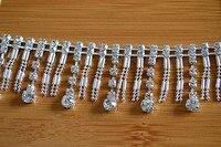 جديد أسلوب الحياكة فساتين الشرابة الرباط تريم حفر الفضة سلسلة حزام الماس الزفاف الدانتيل النسيج الاكسسوارات ديي