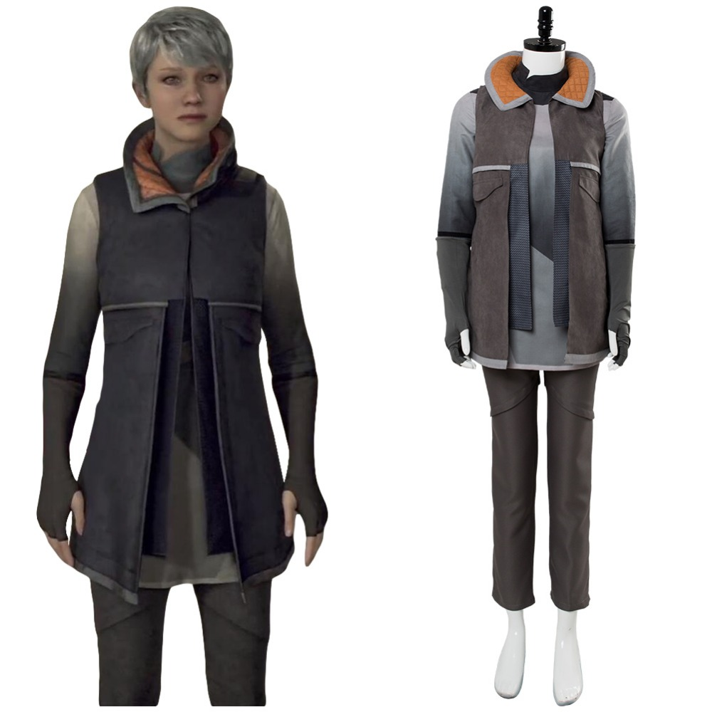 Detroit: Become Human KARA Cosplay Costume Adult Women AX400 Refugee Uniform Costume Halloween Carnival Cosplay Costumes