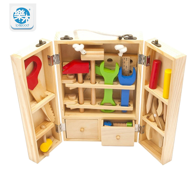 Wooden  Multifunctional Tool Set Maintenance Box Wooden Toy Baby Nut Combination Educational Toy Gifts