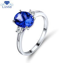 Oval 7x9mm Natural Tanzanite With Brilliant Dia In Solid 18Kt White Gold Wedding Ring,750 White Gold Tanzanite Jewelry WU220