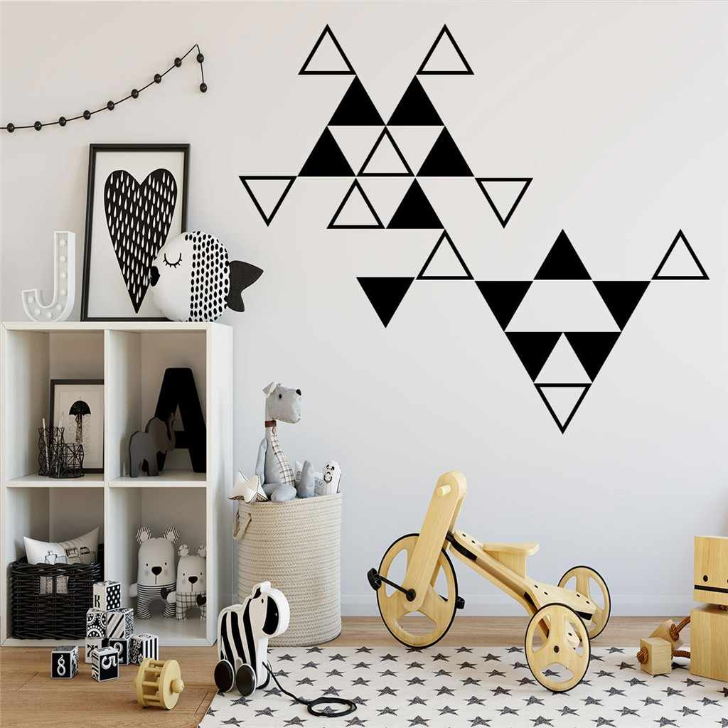 1 PC Triangle Wall Stickers Nordic Style Home Decoration Living Room Baby  Bedroom Wall Decor Decals Nursery Removable Wallpaper