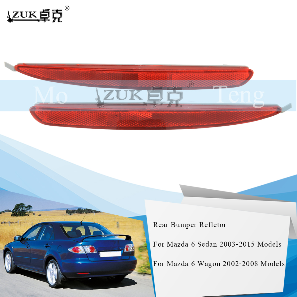 ZUK Rear Bumper Fog <font><b>Light</b></font> Fog Lamp Reflector For <font><b>Mazda</b></font> <font><b>6</b></font> M6 Sedan / Wagon 2002 2003 2004 2005 2006 2007 2008 2009 2010 2011-2015 image