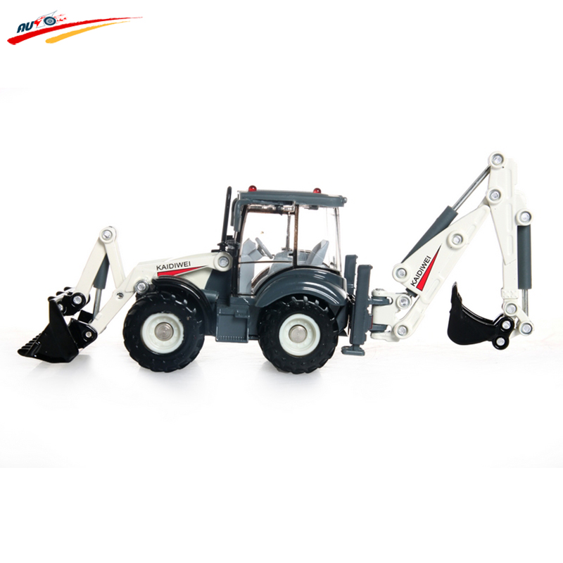 KAIDIWEI Alloy Excavator 1:50 Two-way Forklift Bulldozer Back Hoe Loader shovel Diecast Model For Kid Gift Toys