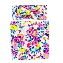 2 шт. Детские Одеяло s новорожденных одежда для сна цветочный пеленальные одеяла Обёрточная бумага для пеленания хлопковое муслиновое одеяло ободки Девушки Одеяло