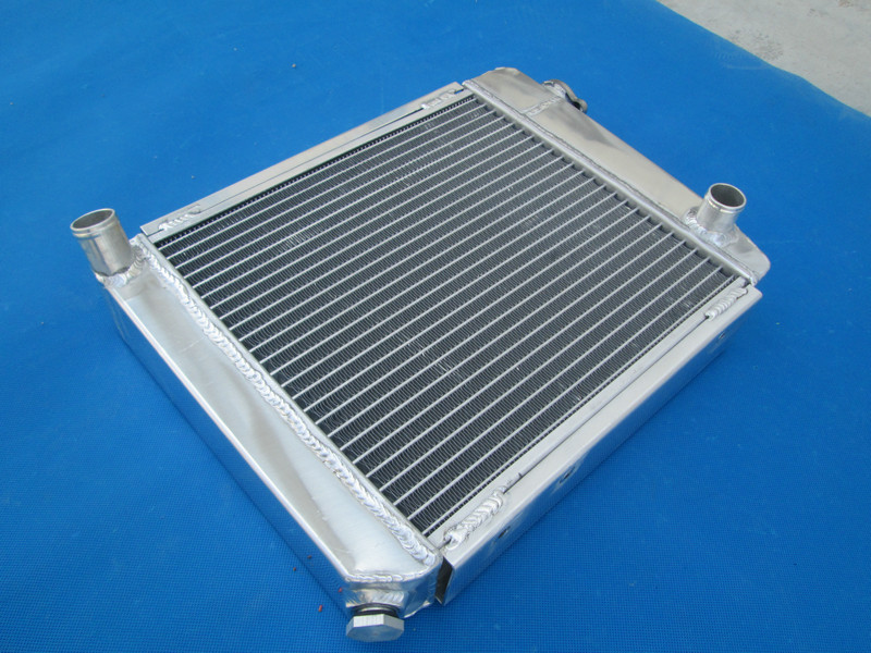 "Aluminum radiator for 1959-1997 Austin Rover Mini Cooper 1275 Racing 2ROW 9/""FAN"