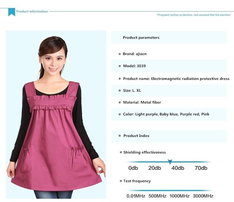 dfc2613ca Los vestidos innovadores e integrados de protección contra la radiación  electromagnética tienen las siguientes características