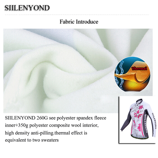 Siilenyond 2019 Winter MTB Bike Cycling Clothing Keep Warm Cycling Jersey Mountain Bicycle Cycling Clothes For Women 3
