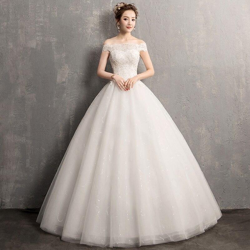 Vestido De Novia Lace Wedding Dresses White Bridal Gown In Stock Fast Shipping