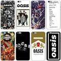 Liam banda oasis noel galagher hard case cubierta transparente para el iphone 7 7 plus 6 6 s más 5 5S sí 5c 4 4S