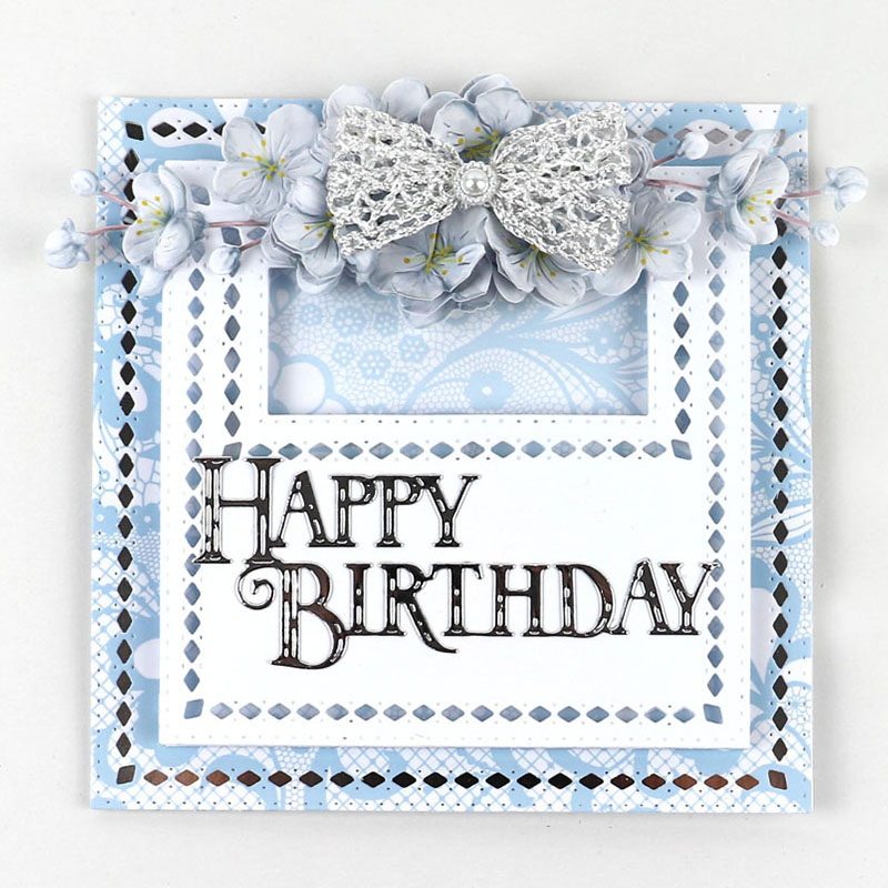 Happy Birthday Metal DIY Cutting Dies Stencil Scrapbooking Album Paper Card