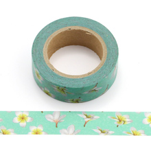 Washi Masking Tape Petal Flower Paper Masking Tapes Japanese Washi Tape Diy Scrapbooking Sticker, 15mm x 10m цена и фото