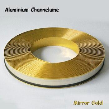 70mm espejo dorado Channelume Led letras de aluminio canal letras señales bobina Trim Cap 3D Material letras luminosas