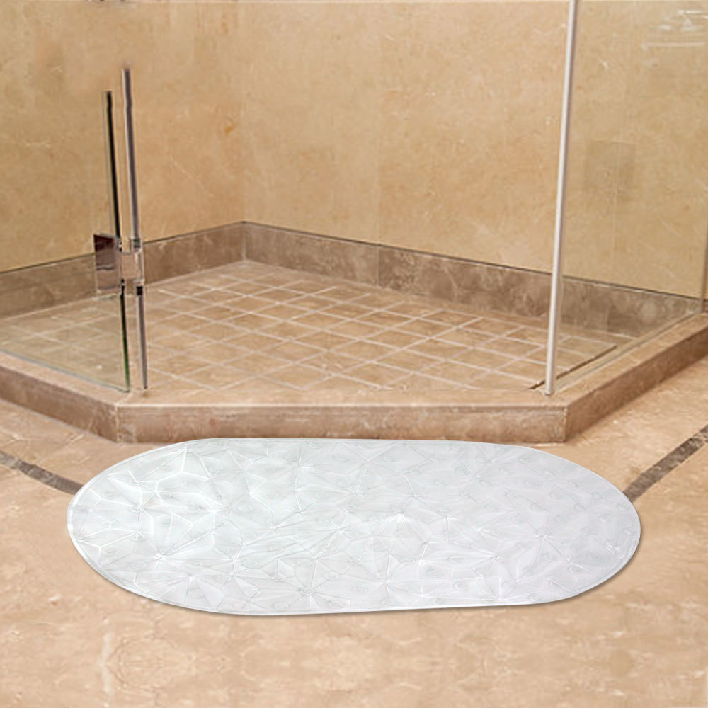 3D Transparent Anti Slip Bath Mat Bathroom Floor Pad with Suction Cups Shower Safety Mats Feet Massage Anti Bacteria