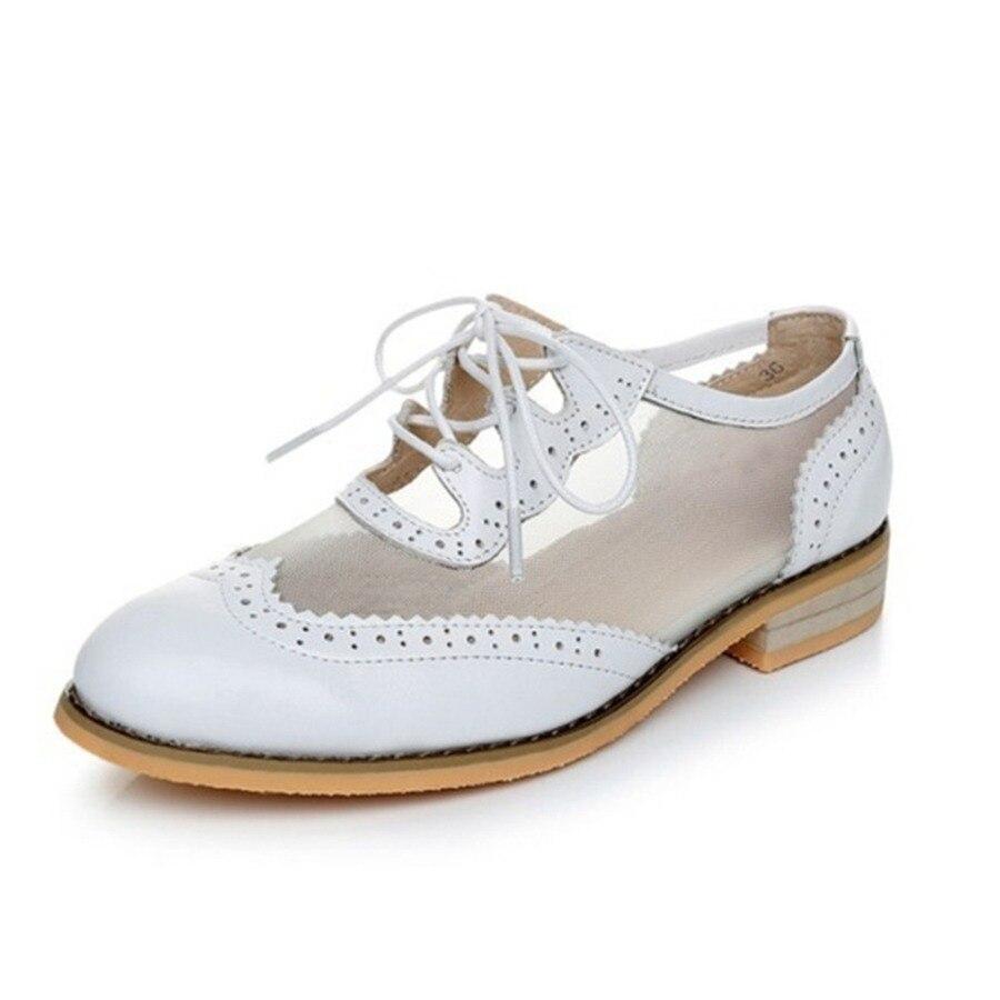71b1dd182 Mulheres planas sapatos oxford para as mulheres do vintage plus size flats  oxfords Primavera sapatos mocassins