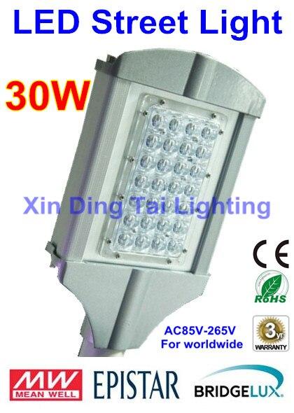 4pcs/lot 30W led street light led street lamp AC85V-265V For worldwide 2 years Warranty sale ac85 265v 60w led street light ip65 bridgelux 130lm w led led street light 3 year warranty 1 pcs per lot