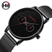 relogio masculino 2019 Fashion Men Watch Top Brand Luxury Quartz Watch Men Creative Dial Clock Mesh Steel Waterproof Wristwatch