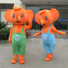 New Style Elephant Mascost Costume Cartoon Elephants Mascot Costumes with Big Ear for Adult Animal Halloween Party Event
