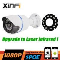 XINFI HD 1080 P PoE IP המצלמה 2MP לראיית לילה IR לייזר פנימי/חיצוני עמיד למים ONVIF P2P טלוויזיה במעגל סגור מצלמה רשת עם USB LED מתנה