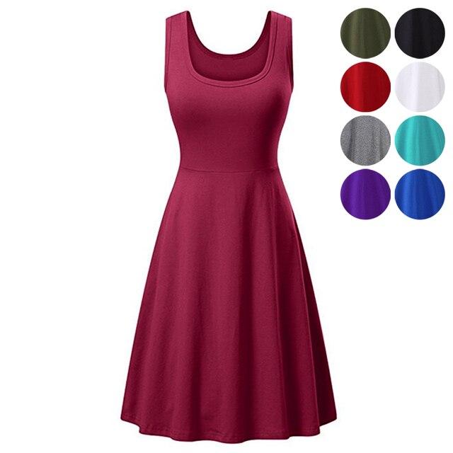 Vestido veraniego informal sin mangas para mujer, vestido de vacaciones de verano, ropa de estilo coreano, vestido elegante de playa para mujer, vestidos de fiesta
