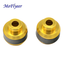 MoFlyeer Universal CNC Motorcycle Drop Resistance Shock Absorber Cup Aluminum Alloy Fall Protect Brake