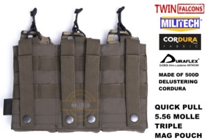 Image 4 - MILITECH TWINFALCONS TW Delustered Hypalon לשלושה M855 פתוח למעלה Mag תיק MOLLE מגזין פאוץ צבאי לחימה 5.56x45 אחסון