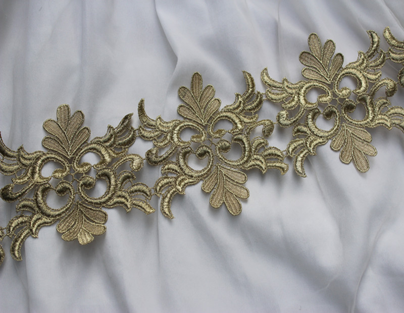 11 5cm Or 4 53inch Wide Victorian Antique Gold Embroidery