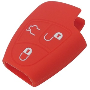 Image 5 - Jingyuqin 3/4 Knop Siliconen Remote Key Case Voor Mercedes Benz B C E Ml Clk Cl Fob Cover houder Keyless Entry Beschermende
